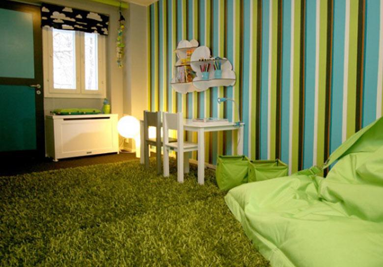 รูป การติดตั้ง หญ้าเทียม ภายในห้องนอน
